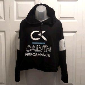 Cropped Calvin Klein Black & White Sweatshirt